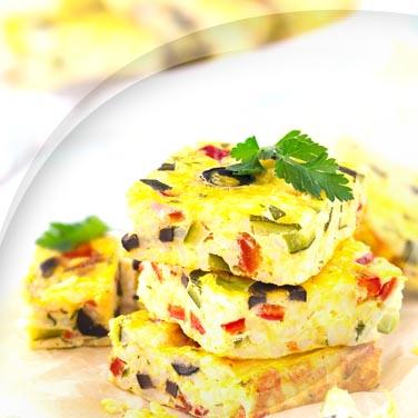 Paprika-käse-omelette