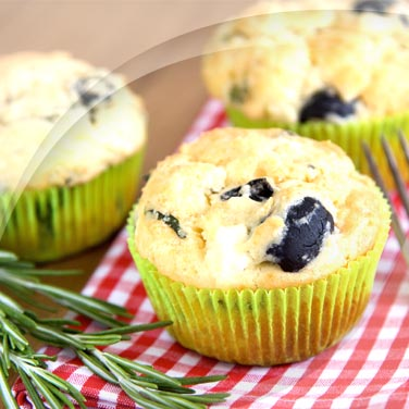 Muffins mit schwarzen oliven