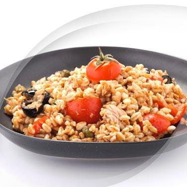 Dinkelsalat mit risopiù und thunfisch